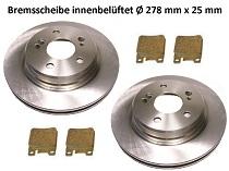 2 Bremsscheiben MERCEDES SL R129 hintenHinterachse Ø 290 mm